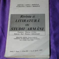 Rivista di litiratura si studii armani nr 1 /1995 - aromani tiberiu cunia (f0097