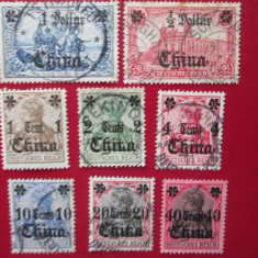 TIMBRE GERMANIA/COLONII-CHINA-SET STAMPILAT