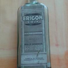 STICLA FARMACIE CU ETICHETA ERIGON SIROP DR WANDER SA BUCURESTI