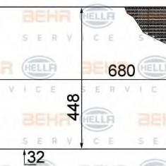 Radiator, racire motor RENAULT LAGUNA II 1.9 dCi - BEHR HELLA SERVICE 8MK 376 753-501