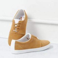 Adidasi Pantofi sport Bershka Originali din piele naturala 43 - Adidasi barbati, Culoare: Maro