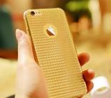 Husa spate silicon Iphone 6/6S Gold Soft TPU Case Sparkle Bling, Gel TPU