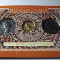 MONEDE ROMANE, SET 3 PIESE, REPLICA - Moneda Antica