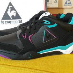 Adidasi originali barbati Le Coq Sportif_piele_cutie_44_livrare gratuita - Adidasi barbati Le Coq Sportif, Culoare: Negru
