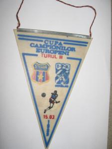 Steaua Bucuresti - IFK Goteborg (15 martie 1989) / fanion