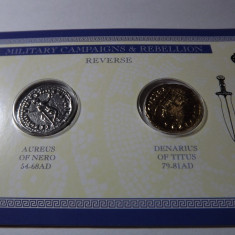 MONEDE ROMANE, SET AUREUS SI DENAR - Moneda Antica
