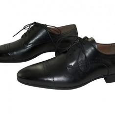 Pantofi barbati piele naturala denis-2776 n, Marime: 40, 41, 42, 43, 44, 45, Culoare: Negru