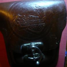 Borseta piele pt. curea cu sigla Motor Harley Davidson Cycles, dim.=14x11, 5 cm - Borseta Barbati