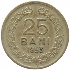 X550 ROMANIA 25 bani 1953 VF - Moneda Romania, Cupru-Nichel
