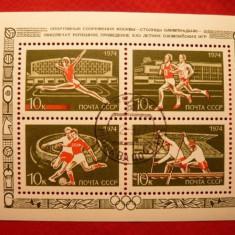 RUSIA 1974 – SPORTURI OLIMPICE, colita stampilata N64 - Timbre straine
