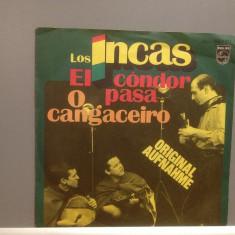 """LOS INCAS - EL CONDOR PASA....(1976/PHILIPS/GERMANY) - VINIL/""""7 Single/Impecabil - Muzica Folk universal records"""