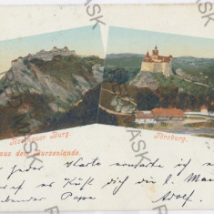 3464 - L i t h o, Brasov, RASNOV, BRAN - old postcard - used - 1900 - Carte Postala Transilvania pana la 1904, Circulata, Printata