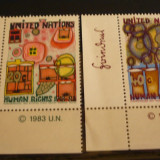 NATIUNILE UNITE NEW YORK 1983 – DREPTURILE OMULUI, serie nestampilata UN25 - Timbre straine