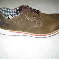 Pantofi din piele naturala barbati WINK;cod LL6166-2;marime:42-45 - Pantofi barbat Wink, Marime: 46, Culoare: Maro, Casual