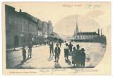3478 - Maramures, SIGHET, Market - old postcard - used - 1901, Circulata, Printata
