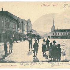 3478 - Maramures, SIGHET, Market - old postcard - used - 1901 - Carte Postala Maramures pana la 1904, Circulata, Printata