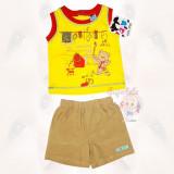 Costumas - pantaloni si maiou galben - ursuletul pictor - Haine bebelusi