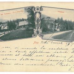 3458 - L i t h o, BRASOV, NOA - old postcard - used - 1902 - Carte Postala Transilvania pana la 1904, Circulata, Printata