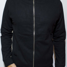 Hanorac cu gluga tip Zara Man -hanorac negru hanorac barbati hanorac slim Cod 64, Marime: S, L, XL, Culoare: Din imagine