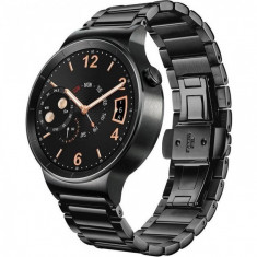 Smartwatch Huawei Watch W1 Steel Black 42MM Black Link Strap, Otel inoxidabil, Android Wear
