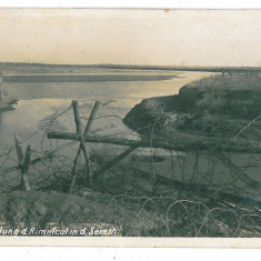 3471 - Buzau, RAMNICU SARAT, river Siret - old postcard, real PHOTO - unused - Carte Postala Muntenia 1904-1918, Necirculata, Fotografie