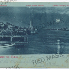 3474 - Litho, Tulcea, SULINA - old postcard - used - 1900 - Carte Postala Dobrogea pana la 1904, Circulata, Printata
