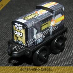 Fisher Price - Thomas and Friends Minis - trenulet jucarie SUPERHERO DIESEL, Metal, Unisex