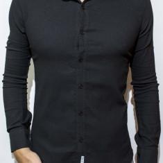 Camasa tip Zara -camasa neagra camasa slim camasa eleganta camasa barbat cod 60 - Camasa barbati, Marime: L, Culoare: Din imagine, Maneca lunga