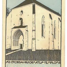 3485 - Cluj, TURDA, Reformed Church - old postcard - used - 1932 - Carte Postala Transilvania dupa 1918, Circulata, Printata