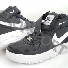 Ghete Nike Air Force - Ghete barbati Nike, Marime: 36, 37, 38, Culoare: Negru, Piele sintetica