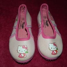 Balerini fetite, Hello Kitty, marimea 23-24, Sanrio, talpa antiderapanta - Balerini copii Hello Kitty, Culoare: Din imagine, Fete, Textil