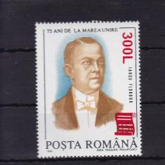 ROMANIA  2001   LP 1556 - 75 ANI DE LA MAREA UNIRE 93 SUPRATIPAR PAPIRUS  MNH