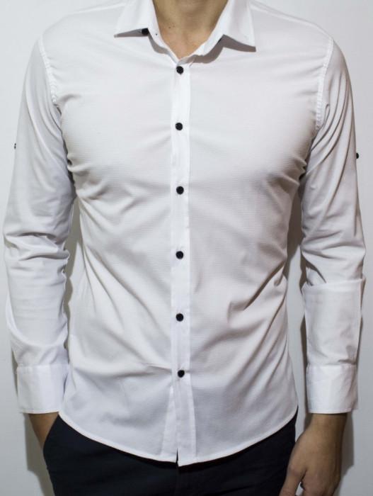 Camasa - camasa alba camasa slim fit LICHIDARE STOC camasa barbat cod 59
