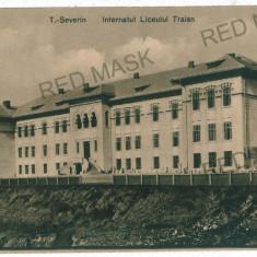 3487 - TURNU-SEVERIN, High School - old postcard - unused - Carte Postala Oltenia 1904-1918, Necirculata, Printata