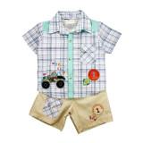 Compleu - pantaloni, camasa si tricou - Little championship - Haine bebelusi