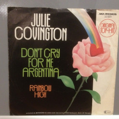 JULIE COVINGTON - DON'T CRY FOR ME...(1978/MCA/RFG) - VINIL/