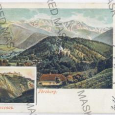 3498 - Litho, Brasov, RASNOV, BRAN - old postcard - used - 1900 - Carte Postala Transilvania pana la 1904, Circulata, Printata