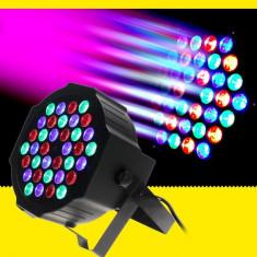 Cumpara ieftin Proiector Lumini Scaner PAR LED Light Slim 36 LED RGB DMX
