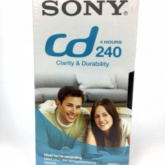 CASETA VIDEO VHS SIGILATA SONY 240min. / 4 HOURS, TRANSPORT GRATUIT !!!