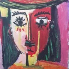 Pictura pe panza tablou de Cosmin Schwab culori acrilice clovn pictor