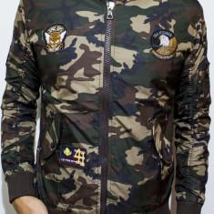Geaca Army tip Zara Man - geaca barbati geaca slim fit geaca camuflaj cod 62, Marime: L, XXL, Culoare: Din imagine