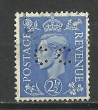 MAREA BRITANIE--1941 CU PERFORATIE, Stampilat