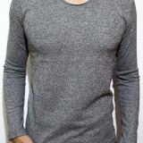 Bluza tip Zara Man - bluza barbati bluza slim fit bluza online bluza gri Cod 68