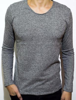 Bluza barbati bluza slim fit bluza online bluza gri Cod 68 foto