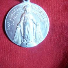 Medalion Sfanta Maria , aluminiu , d= 3 cm