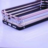 Bumper aliminiu / Bumper metalic / Husa pentru Iphone 7 / 7 plus / 8 / 8 plus, Gri