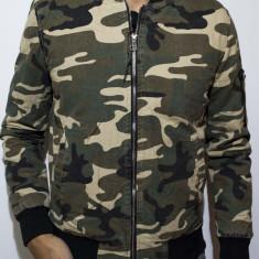Geaca Army tip Zara Man - geaca barbati geaca slim fit geaca camuflaj cod 66, Marime: M, L, XL, Culoare: Din imagine