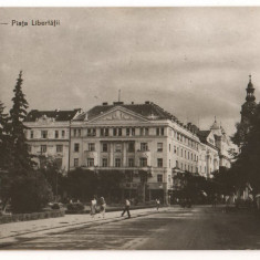 CPI (B7333) CARTE POSTALA - CLUJ. PIATA LIBERTATII, RPR, 1959 - Carte Postala Transilvania dupa 1918, Circulata, Fotografie
