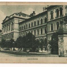 CPI (B7326) CARTE POSTALA - CLUJ. UNIVERSITATEA - Carte Postala Transilvania dupa 1918, Necirculata, Printata
