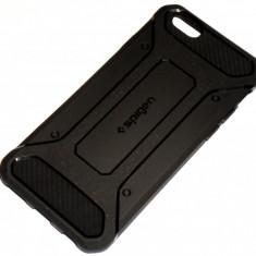 Husa Protectie Silicon Tpu Spigen Rugged Capsule Iphone 6 6S - Husa Telefon, Negru, Gel TPU